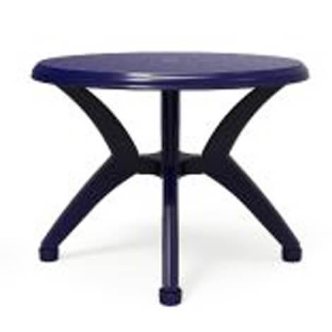 """שולחן עגול אריאל 100 ס""""מ כחול"""