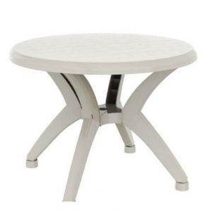 """שולחן עגול אריאל 100 ס""""מ לבן"""