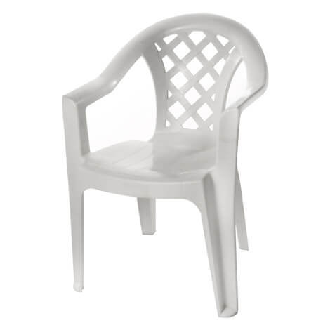 כיסא גינה נעם לבן